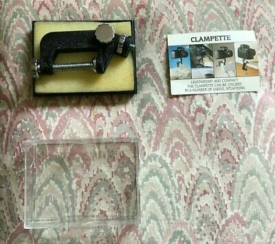 £10.50 • Buy Small 'Clampette' For Camera. G-Clamp Camera Holder. Metal. Black.