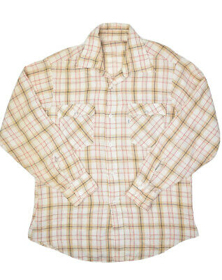 $28.82 • Buy Vintage Levis Western Flannel Button Up Shirt Mens L Plaid USA Made Lightweight
