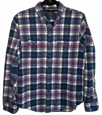 $16.99 • Buy Abercrombie & Fitch Blue Red Plaid Flannel Shirt Mens Size M Medium Soft!