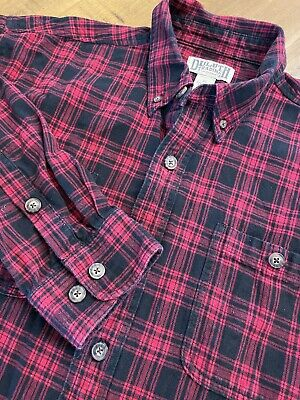 $29.95 • Buy Duluth Trading Co. Men's XL Red & Black Plaid Flannel Button Up Shirt
