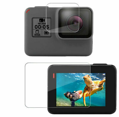 $ CDN3.39 • Buy LCD +Lens Protector Tempered Glass Screen Protector For Gopro Hero 7 6 5 Black