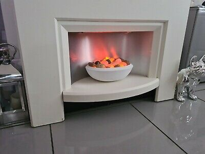 £70 • Buy Free Standing Modern Electric Fire And Surround 2 Fan Heater Settings, + Lights