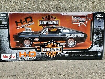 $59.95 • Buy Maisto 1967 Ford Mustang GT Harley Davidson 1:24 Scale Diecast Motorcycle Car