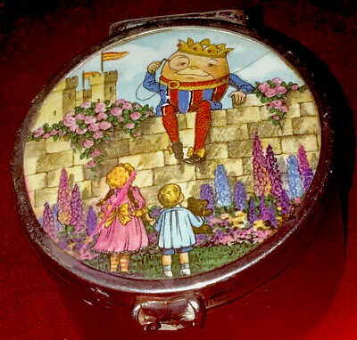 £44 • Buy Humpty Dumpty A Lovely English Silver And Enamel Colourful Circular Form Box