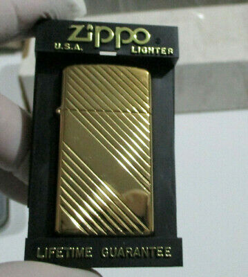 AU29 • Buy Zippo Lighter - Slim Size - Gold Plated    - New In Case