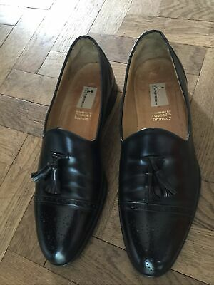 £55 • Buy Mens Moreschi  Russell&Bromley Black Leather Majesty Tassel Loafer Shoes Size 11