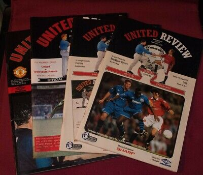 £15 • Buy 4 United Review Programmes 1992-1997