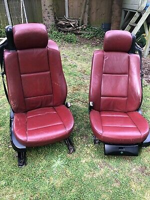 £110 • Buy BMW E46 Cabriolet Convertible Tanin Red Leather Front Seats.