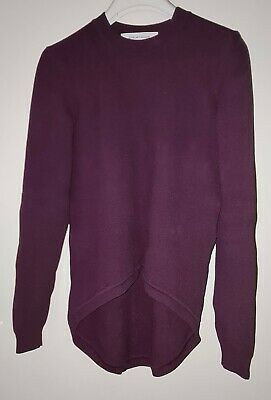 AU80 • Buy SCANLAN THEODORE Crepe Knit Top - Dark Violet - Size Small