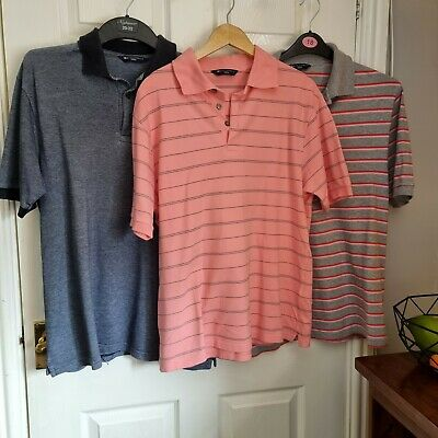 £6 • Buy Marks And Spencer Blue Harb Cotton Polo Shirts Others Listed Medium Very Good...