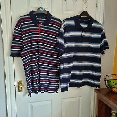 £4 • Buy Marks And Spencer Blue Harb Cotton Polo Shirts Others Listed Medium Very Good...