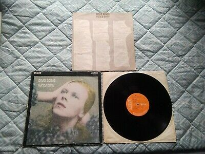 £110 • Buy DAVID BOWIE- HUNKY DORY - 3T/4T Very Early  UK PRESSING + LYRICS Vg Playtested