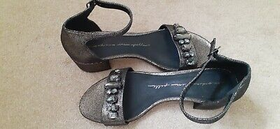 £9.99 • Buy NEW - MODA IN PELLE SHOES / SANDALS - Special Occasion Bronze Embellished UK 5