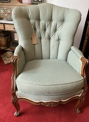 £225 • Buy Louis XV Style Walnut Framed Buttoned Back Armchair Fauteuil