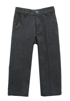 £38 • Buy IL GUFO Boys Coke Grey Lined Formal Trousers Adjustable Waistband 2,3,5,6,8 Yrs