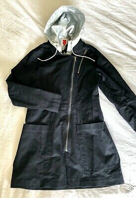 £1.40 • Buy BNWOT Captain Tortue  Miss Captain  Black And Silver Trenchcoat Size 36 / 8-10