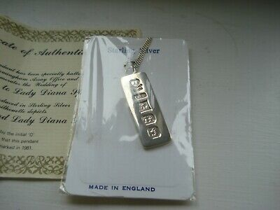 £25 • Buy Silver Ingot Pendant Complete With Chain - Charles & Diana Wedding