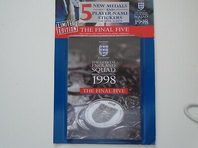 £7 • Buy Sainsburys England World Cup 1998 Squad Medal Coin Collection - The Final 5