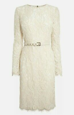 £14.99 • Buy Next Lace Long Sleeve Work Office Summer Wedding Party Fitted Dress Size 12