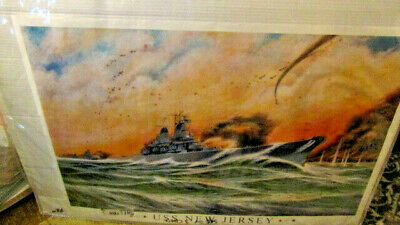 $24.99 • Buy 2001 USN Print/USS New Jersey/US Navy Battleship/most Decorated/military 24x36