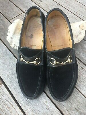 AU67.56 • Buy Gucci Loafers - Black Suede - Size 11.5 / 45