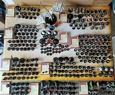 AU1493.31 • Buy Dungeons And Dragons Miniatures Massive Lot Of 340 Figures W/stat Cards!!!