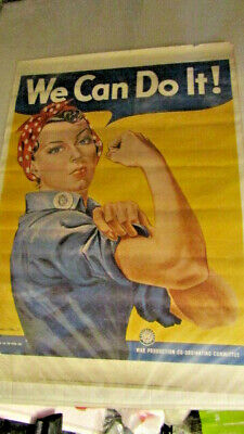 $14.95 • Buy 1943 We Can Do It! - Rosie The Riveter Vintage Style WW2 Poster - 20x28