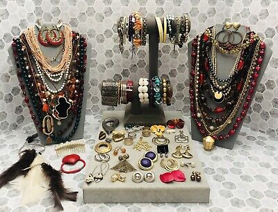 $ CDN13.22 • Buy Huge Vintage To Now Jewelry Lot - Estate Find - All Wearable Pieces - 3 Lbs +
