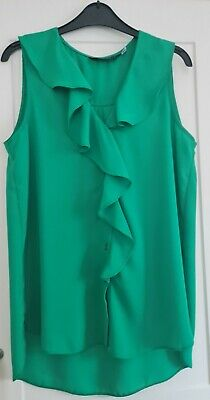 £3.60 • Buy Bright Green Frilly ,Sleeveles Dorothy Perkins  Blouse,New Without Tags.Size 12.
