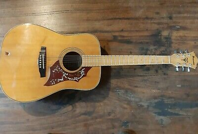 AU500 • Buy Vintage 1982 Ibanez NW40 Dreadnought Acoustic Guitar Rare Flamed Maple Model