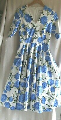 £9.99 • Buy NEW.'The Pretty Dress Co'.Full Circle Vintage Rose 50's Look Dress.UK 8.Was £100
