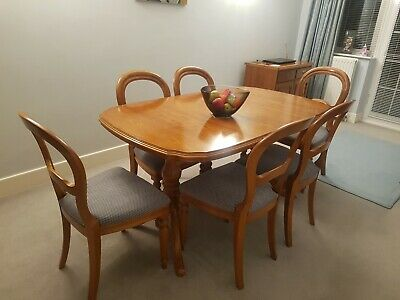 £70 • Buy Dining Room Table And 6 Chairs Used. Cherry Wood, Very Good Condition.
