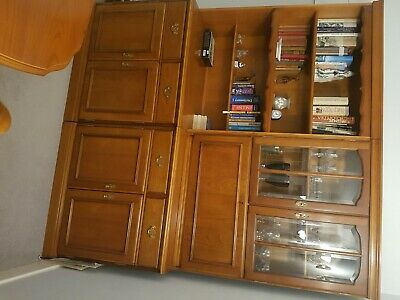 £40 • Buy Sideboard With Book Shelf, Glass Doors Display Cabinet And Drinks Cabinet.