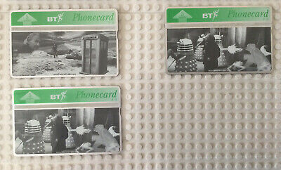 £2.99 • Buy BT Phonecard - Dr Who - Includes 3 Cards! - Rare Unused  *LOOK*