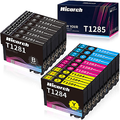 £27.01 • Buy Hicorch T1285 Multipack Ink Cartridges Replacement For Epson T1281 T1282 T128...