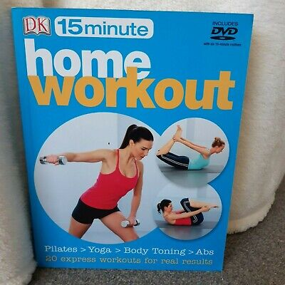 £3 • Buy 15 Minutes Home Workout Book & DVD - Includes Pilates/Yoga/Body Toning & Abs VGC