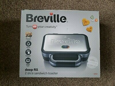 £19.99 • Buy New Breville Deep Fill Sandwich Toaster Removable Plates Easy Clean VST041
