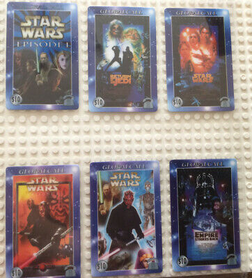 £3.99 • Buy Star Wars GlobalCall Phone Cards Set 6 USA 1999 Rare Collectable Unused