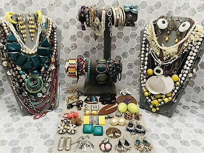 $ CDN2.83 • Buy Huge Vintage To Now Jewelry Lot - Estate Find - All Wearable Pieces - 4 Lbs +