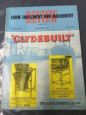 £9.99 • Buy Farm Implement And Machinery Review Magazine From September 1966