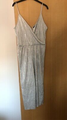 £2 • Buy Ladies Primark Silver 3/4 Length Jumpsuit New With Tags Size 14