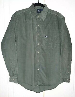£6.99 • Buy  Vintage Cotton Traders Men's Green Long Sleeve Corduroy Shirt Size Small