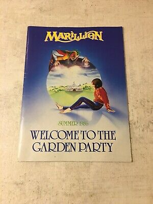 £15 • Buy Marillion Tour Programme 1986 Welcome To The Garden Party + Poster And 2 Flyers