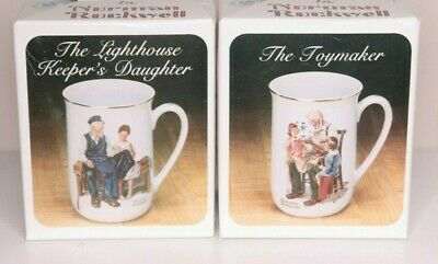 $ CDN10.07 • Buy 2 Vintage Norman Rockwell Museum Collection Coffee Cups Mugs Made In Japan