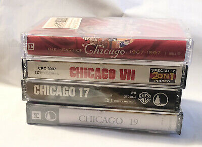 £0.72 • Buy Chicago Cassette Tapes Lot VII 17 19 Heart Of Chicago Albums New Sealed