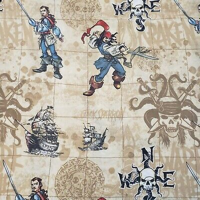 £12.29 • Buy Disney Pirates Of The Caribbean Twin Flat Bed Sheet Jack Sparrow Will Turner