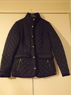 £9.99 • Buy Ladies Navy Joules Quilted Jacket Size 12