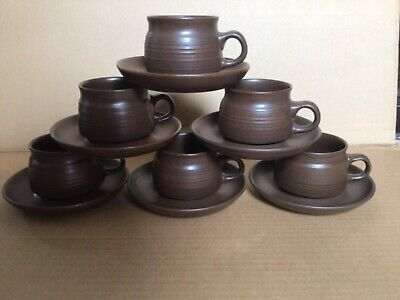 £6.50 • Buy A Set Of 6 Langley Denby ?Sherwood Cups And Saucers