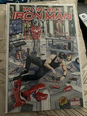 £15 • Buy MARVEL COMICS INVINCIBLE IRON MAN ISSUE #1 DYNAMIC FORCES VARIANT Limited 3000