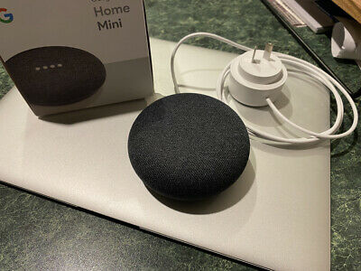 AU35 • Buy *LOOK* Google Home Mini Smart Assistant - Charcoal - Opened But Never Used